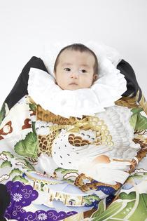男の子 赤ちゃんのお宮参り写真