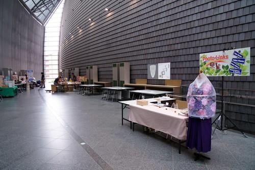 展示会ブース準備風景 奈良100年会館