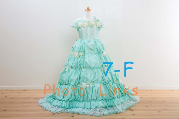 ミントグリーン 120cm 女の子用ドレス七五三にはおすすめ