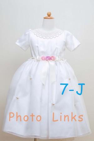 女の子 ショート丈ドレス 白 120cmショート丈の脚見せがキュート
